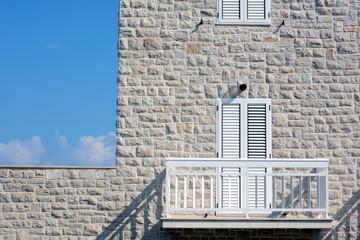 Hausfassade in Südeuropa