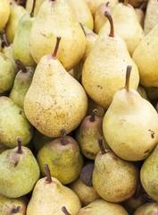 Sweet pears in big market