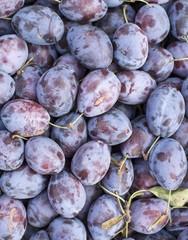Fruit plums in big market