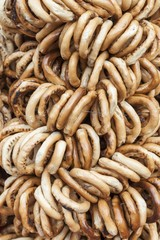 Romanian traditional bagels string