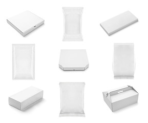 white box container template blank package