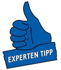 tus13 ThumbUpSign tus-v2 Daumen hoch Experten Tipp blau g2113