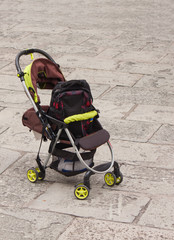the go-cart on floor