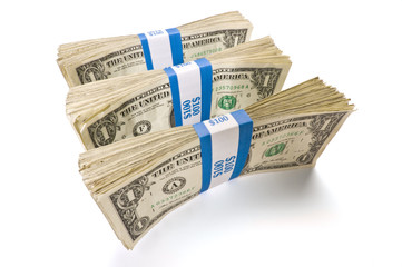 Three Bundles of Dollar Bills