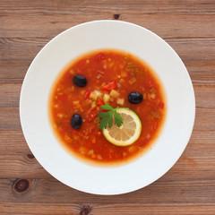Russian Solyanka soup