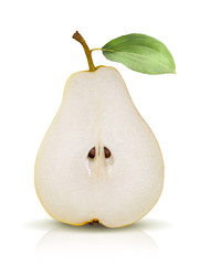 Pear split isolated on white background