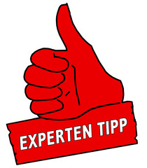 tus16 ThumbUpSign tus-v2 Daumen hoch Experten Tipp - rot g2116