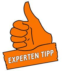tus17 ThumbUpSign tus-v2 Daumen hoch Experten Tipp orange g2117
