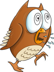 Insane Crazy Owl Vector Illustration Art