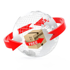 Wire globe with free shipping cardboard box