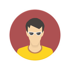 Vector icon of user avatar for web site or mobile app