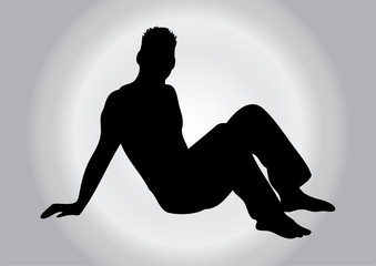 Black silhouette of a man