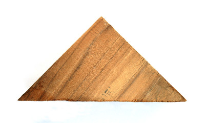 wooden in shape triangle