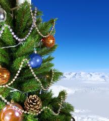 green New Year tree