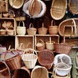 canvas print picture - wicker baskets