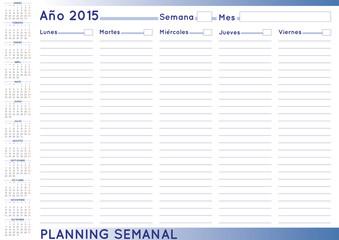 Weekly planner spanish