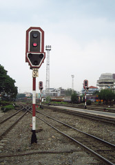 Signal Pole in Railway Station
