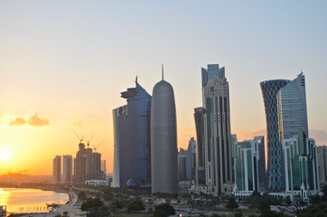 Doha at sunset