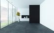 Modern style empty room interior