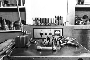 Set of tools and equipment lathe machine tool