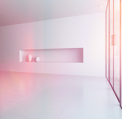 Modern empty room interior with alcove