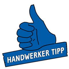 tus19 ThumbUpSign tus-v3 Daumen hoch Handwerker Tipp blau g2119
