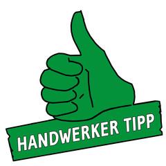 tus21 ThumbUpSign tus-v3 Daumen hoch Handwerker Tipp grün g2121