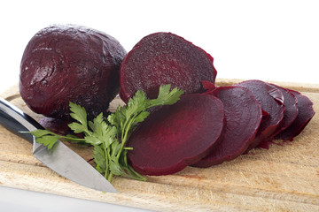 beets and parsley