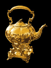 Gold kettle for tea or coffee