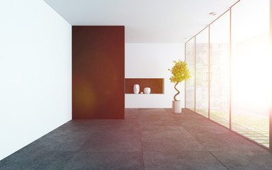 Modern style empty room interior