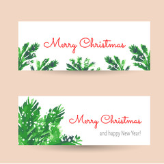 Christmas tree brunches banners