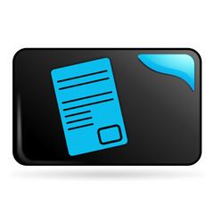 document sur bouton web rectangle bleu