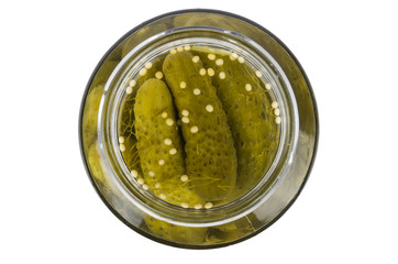 Pickles s glass jar
