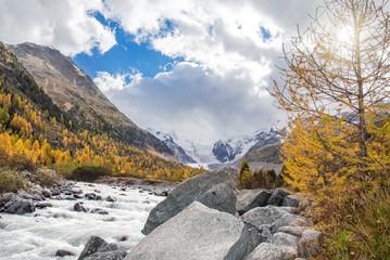 Morteratsch Gletscher, Tal und Fluss