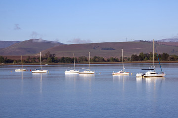 Yachts at Early Morning on the Midmar Dam