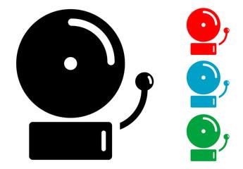 Pictograma timbre de alarma con varios colores