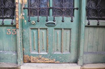 Vintage front door in England.