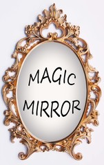 Vintage gold frame - magic mirror