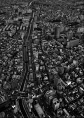 zone urbaine vue de haut