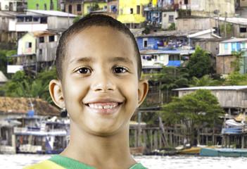 Little Brazilian boy smiling