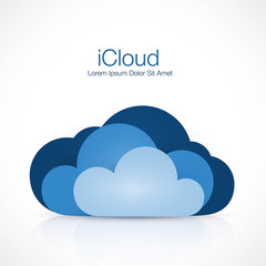 Cloud vector sign, clouds logo