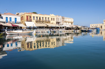 Old Venetian Harbor in Rethymno on Crete