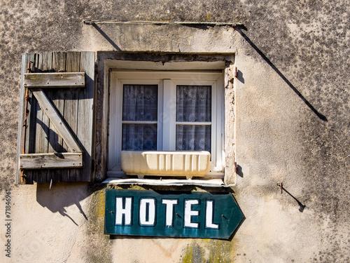 canvas print picture Schild Hotel