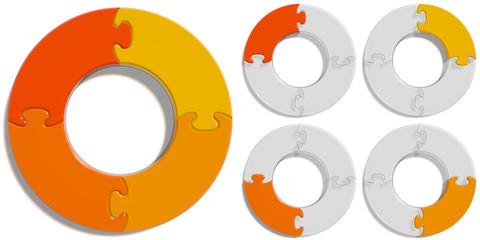 Circle Puzzle 04 - Orange