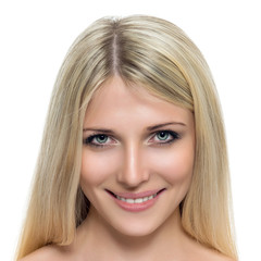 Adult woman with beautiful face.