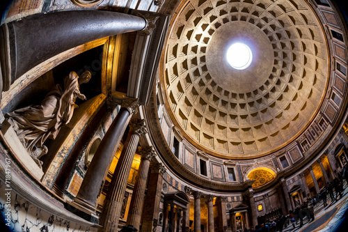 canvas print picture Italien, Rom, Pantheon