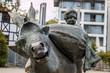 """Statue """"Esel mit Salzsack"""" Bad Sassendorf"""