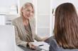 Leinwanddruck Bild - Bewerbung: Bewerbungsgespräch unter Frauen