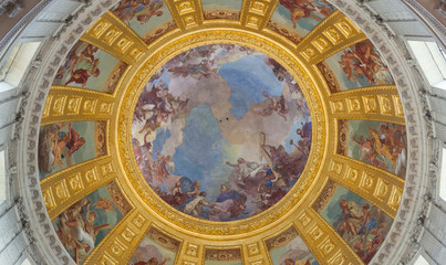 Fresco of the cupola in the Dome des Invalides.