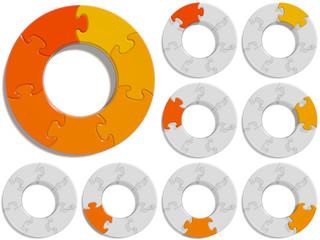Circle Puzzle 07 - Orange
